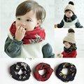 7993 3 малышей теплый кошка рисунок имитация милый младенческий шарф
