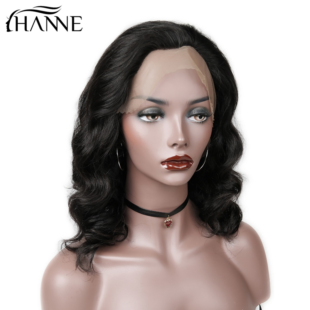 HANNE Hair 130 Density Lace Front Human Hair Wigs Loose Wave Malaysian Remy Wig Pre-Plucked Hairline Free Part For Black Women