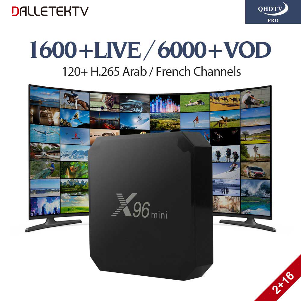 X96 MINI TV Box Android 7.1 2G 16G Smart IP TV Europe French Arabic IPTV Box QHDTV PRO Abonnement 1 Year French Arabic IPTV Box qhdtv pro abonnement 1 year h 265 arabic french iptv box a95x smart android 7 1 tv box iptv europe belgium netherlands iptv box