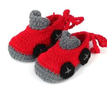 1Pair Fashion soft-soled baby boys girls colors car shape handwork knit toddler shoes children's crib shoes 11cm