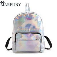 Fashion Hologram Laser Backpack Luxury Women Backpack Hot Sale Backpacks For Teenage Girls Silver Women Bag