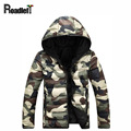 Men's clothing spring & autumn camouflage camo jackets Men hooded cotton Down jacket Men fashion casual college coat Jacket