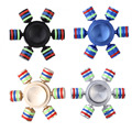 Spinner Fidget Rainbow Spinner Hand Metal Six Arm Rudder Ferris wheel Finger Gyroscope Focus Anti Stress Adult Gifts Toy Spiner