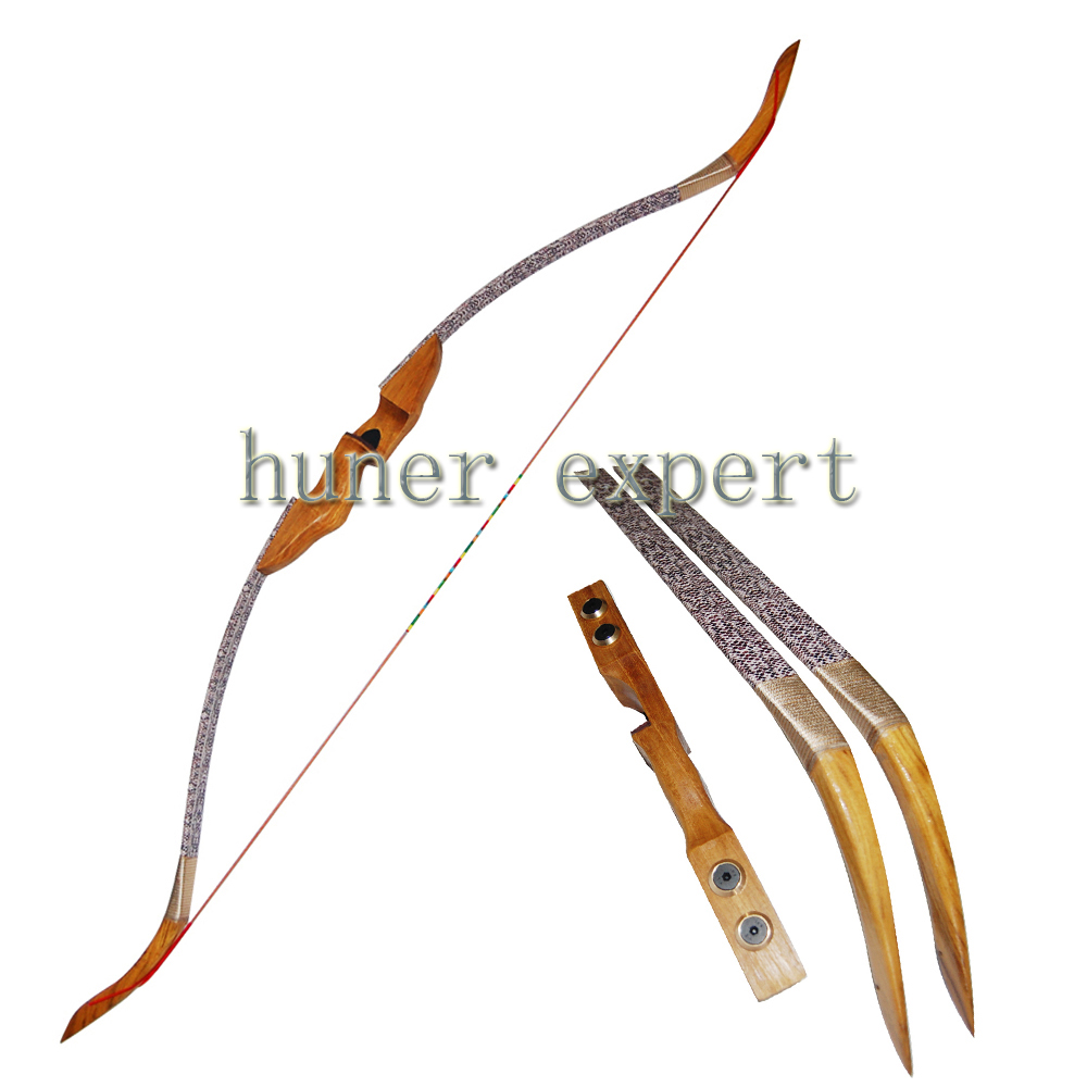 ФОТО Archery takedown recurve bow hunting 45lbs RH compatible for 400 SPINE fiberglass arrow or carbon arrow