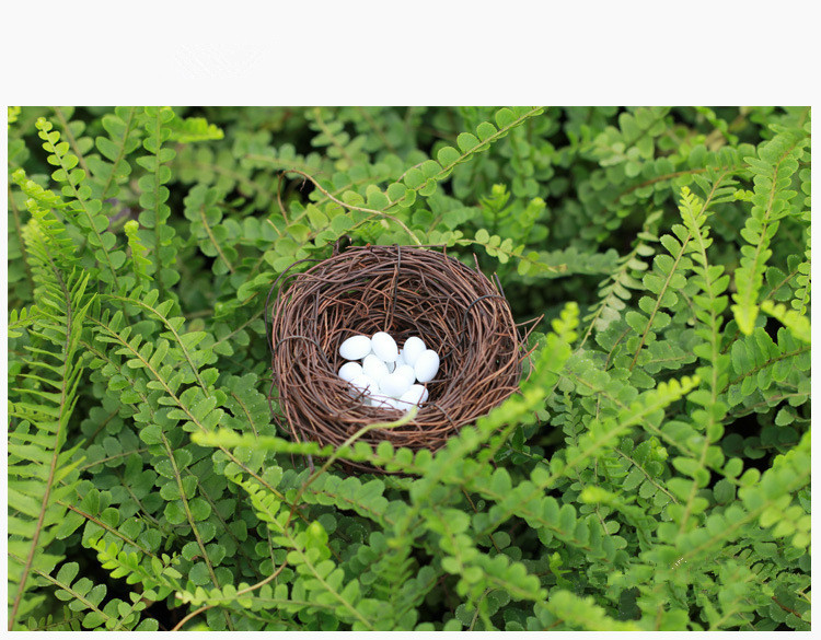Bird Cages & Nests Pet Products Micro Fairy Garden Decoration Miniature Figurines Toys Crafts Accessories Diy Artificial Birds Nest Simulation Easter Eggs Model Clearance Price