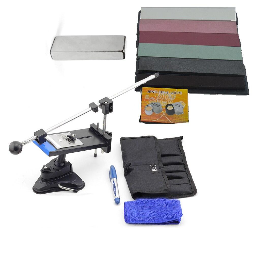 Sy инструменты Полный практический набор 5 шт. точильный камень кожа Лупа магнит шеф повар ножи Apex pro точилка