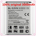 100% 3000mAh original phone Replacement Battery BL-53YH For LG G3 F400 F460 D858 D830 VS985 BL53YH with Free Shipping