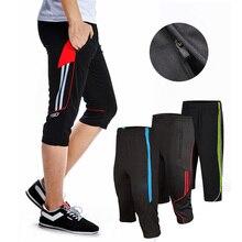 Дизайн, размер, L-4XL, мужские футбольные тренировочные штаны, для бега, 3/4, брюки с карманом на молнии