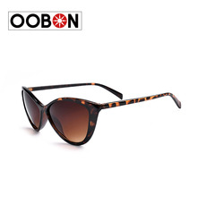 Oobon 2016 New Fashion Brand Designer Cat Eye Sunglasses Women Oversized Vintage Sun Glasses For Ladies Retro oculos de sol