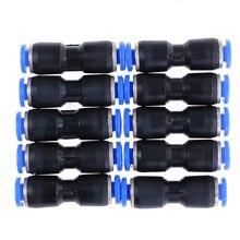 10 sztuk/partia Pu-4mm pneumatyczne proste złącza unii Push w pneumatyczne armatura do rury powietrza rury powietrza wspólne akcesoria