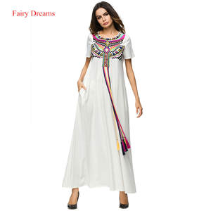 2de117b837 Muslim Dress Women Abayas Kaftan Turkish Arab Dubai Islamic
