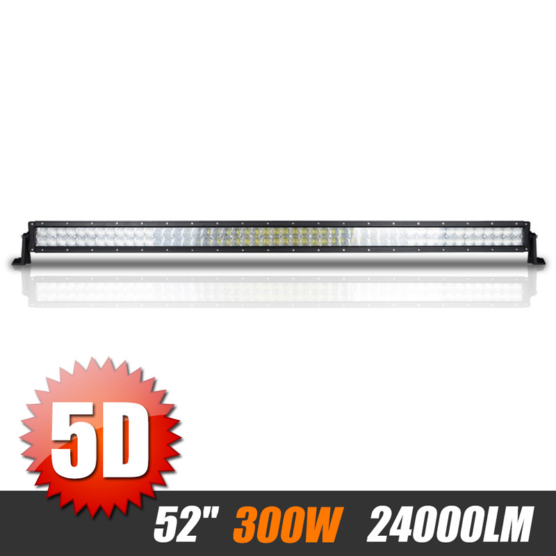 52 inch 500W 5D Offroad LED Light Bar Combo Beam Straight Lamp Work Light 12V 24V 6000K For JEEP UAZ Truck Tractor ATV SUV 4WD