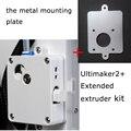 Ultimaker 2 + Extended extrusora suite alimentador um2 extrusión extendida fijados ajuste + placa de montaje metálica envío gratis