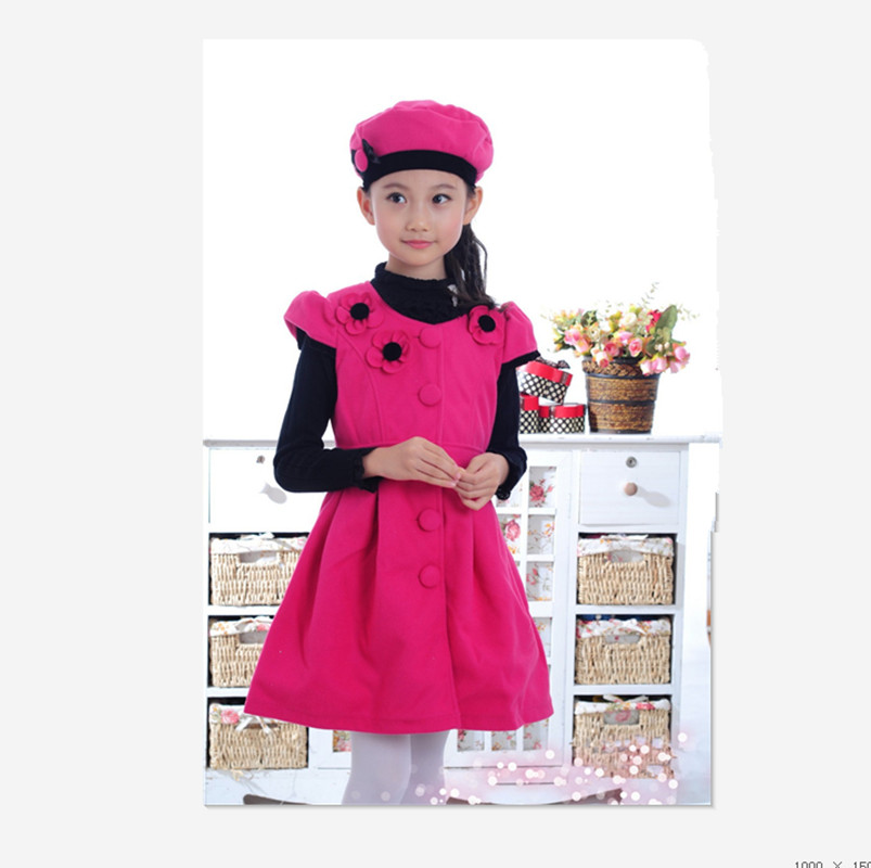 New Arrival Korean Spring Autumn and Winter girls dress vest dress girls New Year dress Nigerian dress with hat bfdadi 2018 new arrival hat genuine