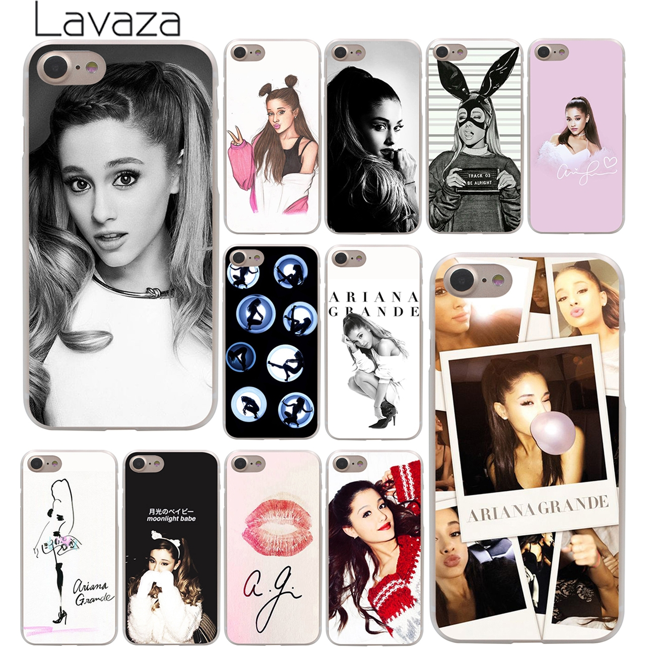 Lavaza Cat Ar <font><b>Ariana</b></font> <font><b>Grande</b></font> Hard Phone <font><b>Case</b></font> for <font><b>iPhone</b></font> XR X XS 11 Pro Max 10 7 8 6 <font><b>6S</b></font> 5 5S SE 4 4S Cover image