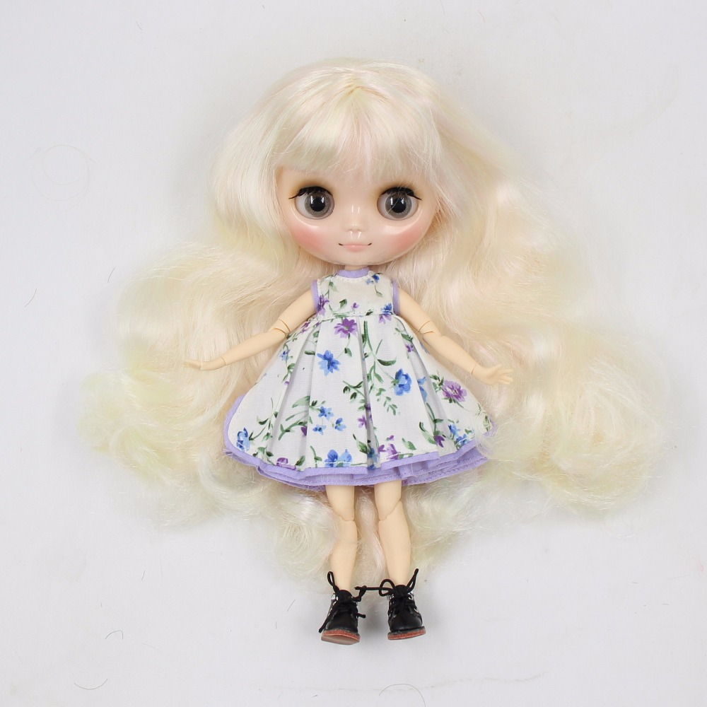 Free shipping blyth Middie Doll fluorescent green mix pink hair 210BL1017/400 joint doll 1/8 doll special offer цена и фото