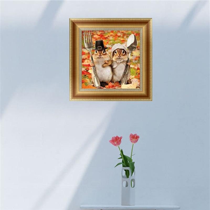 DIY 5D Diamonds Embroidery Animals Round Diamond Painting Cross Stitch Kits Mosaic Home decor 30*30cm Elf On The Shelf