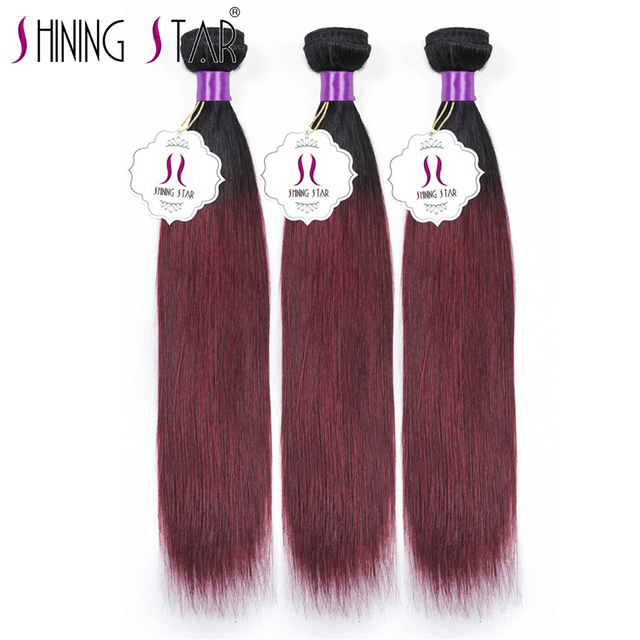 Us 104 42 Brazilian Ombre Hair Straight 3bundles 1b 99j Burgundy 8a Brazilian Ombre Virgin Hair Straight Meches Bresilienne Straight Hair On