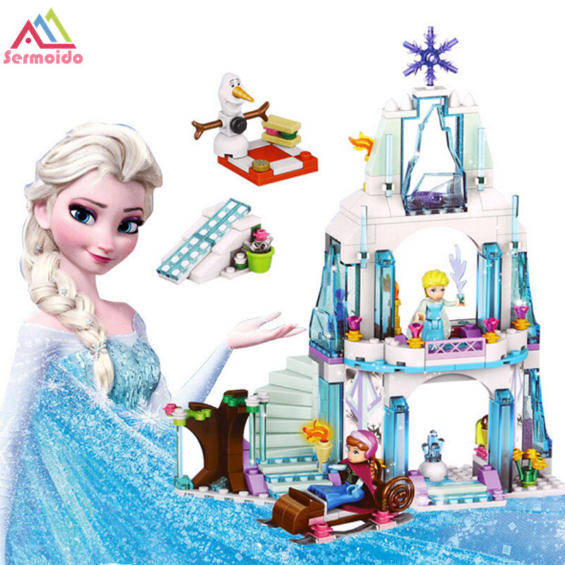 sermoido Toys Fairy Tale movie Princess Castle Friends City Figures Building Blocks For Children DBP237