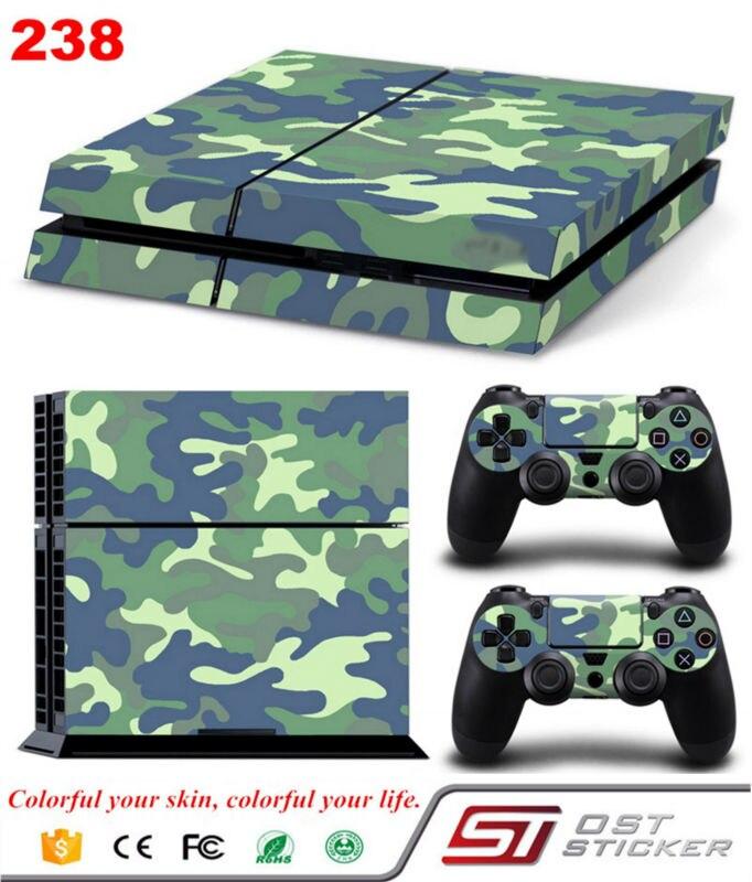 OSTSTICKER OSTSTICKER New Game Console Wireless Controller Joystcik Skin Decal Sticker For PS4