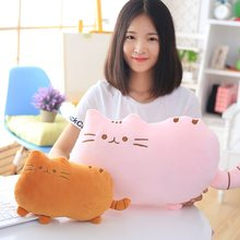 40*30cm Kawaii Toys Cat Pillow With PP Cotton Cushion Stuffed Plush Animal Doll Pendant Birthday Gifts Soft Toys For Children(China)