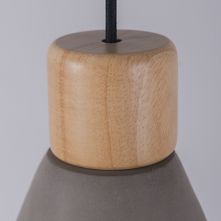 Nordic Ash Wood Cement Pendant Lamp Modern Concret Red Blue Black Gray Cement Pendant Light Drop Home Light Vintage Dining Room Lamp (7)
