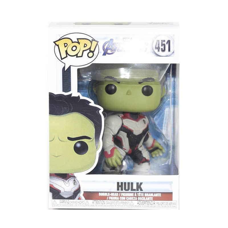 FUNKO POP Original Marvel Avengers Filme: endgame HULK #451 Ação PVC Figura Coleção Modelo Brinquedos para Presente de Natal Das Crianças