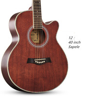 Acoustic Guitar 40 Inch Rosewood Fingerboard Guitarra With Guitar Strings S