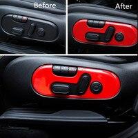 Accessori auto seat tasto di regolazione Per mini cooper JCW john cooper works countryman F60 2017 A Scacchi rosa rosso copre