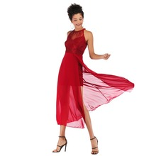 New Women Solid Chiffon Boho Style Party Dresses O Neck Mesh Temperament Slim Dress Summer Vestido De Fiesta