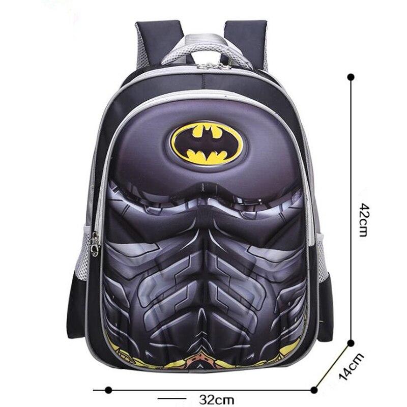 Superhero Spider-Man Batman Kids School Bags For Boys Backpack Kid Waterproof Primary School Backpacks Children Cartoon Backpack