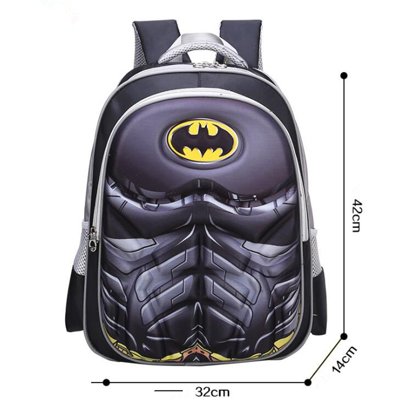 Superhero Spider-Man Batman Kids School Bags For Boys Backpack Kid Waterproof Primary School Backpacks Children Cartoon Backpack