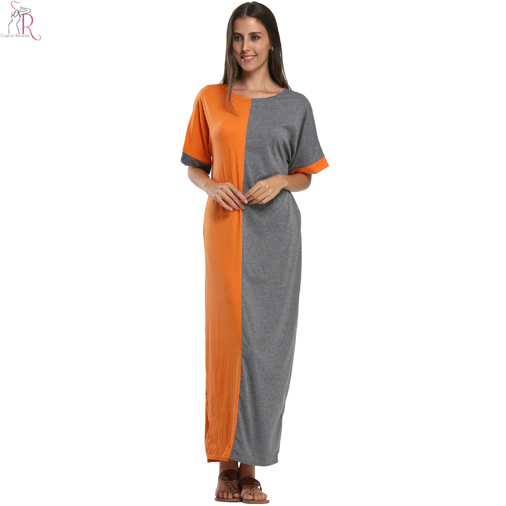 Orange-Grey-Contrast-Color-Block-Batwing