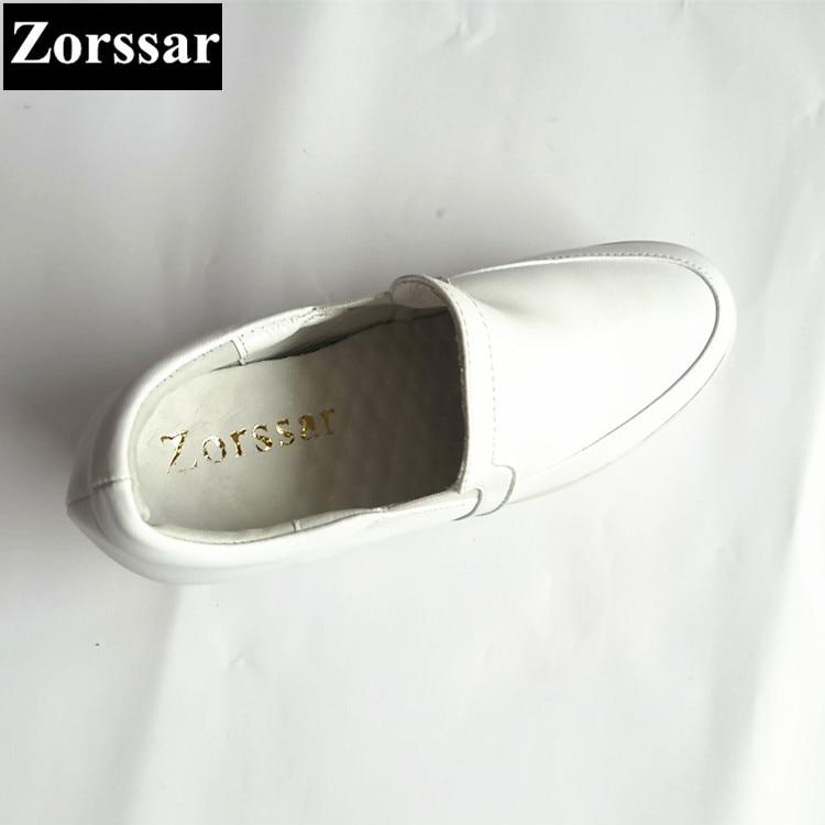 Genuino {zorssar} Los Casuales Las Zapatos Cuñas De Altos Mujer blanco 2017 Cuero Aumento Tacones Mujeres Plataforma Altura rojo Negro q8r8Stgw