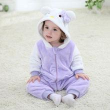 Фиолетовый кот для малышей, унисекс, весна-осень, тонкий комбинезон, Рождественский комбинезон, комбинезон, костюм