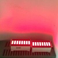 5 sztuk wyświetlacz LED 8 segmentowy wykres słupkowy czerwone cyfry znaki LED wyświetlacz Cube 8 barów karta graficzna Bar Graph 8 segmentów moduł w Wyświetlacze LED od Części elektroniczne i zaopatrzenie na