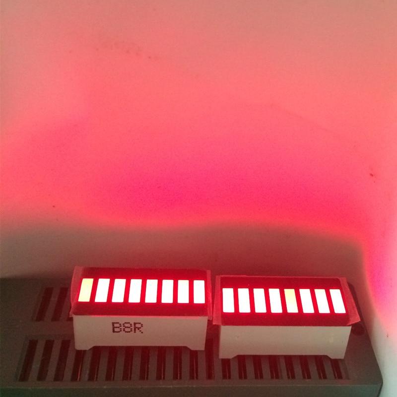 5pcs LED Display 8 Segment Bar Graph Red Numbers LED Signs Display Cube 8Bars Graphics Board Bar-Graph 8segmentos Module