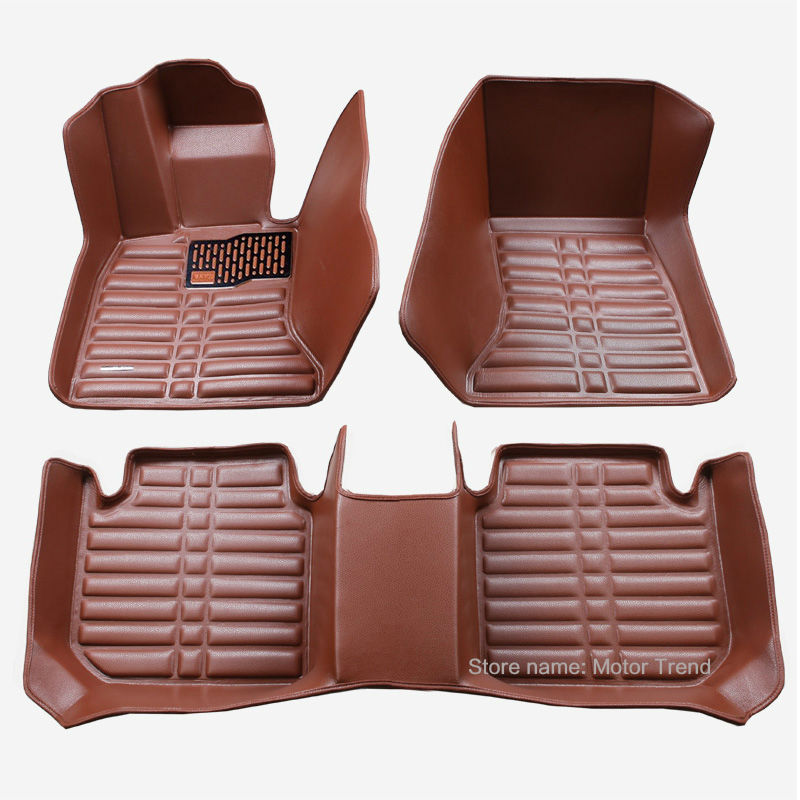 Custom fit car floor mats for Nissan Rouge X-trail Murano Qashgai Altima Sentra Versa 3D leather car styling floor rugs liners for nissan murano luxury leather wear resisting car floor mats black grey brown coffee non slip waterproof 3d car floor carpets