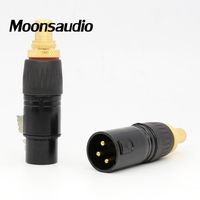 Free shipping 4pcs/lot XLR male to RCA Female Socket Adapter plated gold RCA plug
