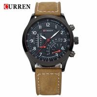 CURREN Brand Luxury Leather Men Watch 2016 Military Sports Mens Watches Relogio Masculino Waterproof Wrist Clock