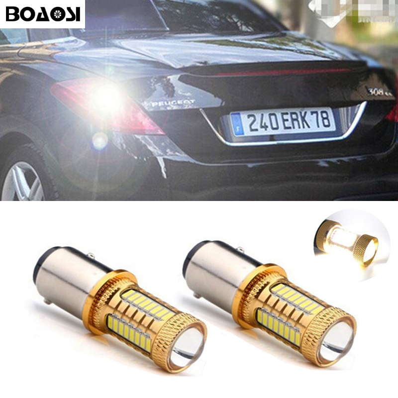 BOAOSI 2x 1156 P21W LED 4014 Chip Canbus backup reverse light lamp For peugeot 307 206 2008 207 308 4008 508 5008 for 301 2014 error free ba9s socket 360 degrees projector lens led backup reverse light r5 chips replacement bulb for peugeot 3008