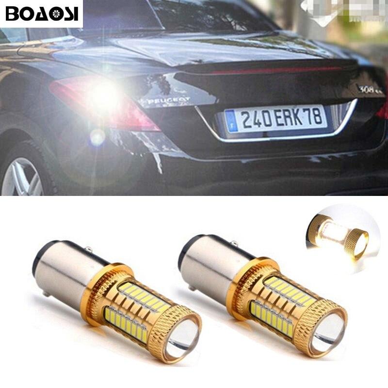 BOAOSI 2х 1156 P21W светодиодные чип 4014 canbus автомобиля резервного копирования обратный свет лампы для Peugeot 307 206 207 308 4008 508 5008 301 2008 по 2014