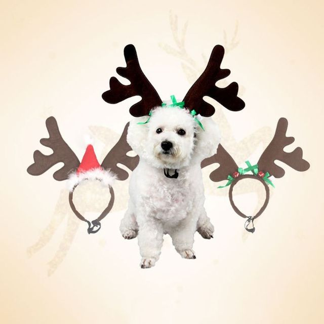 Christmas Pet Headband Deer Horn Hat Costume Dog Puppy Cat Cosplay Party Product Nov-11A 5