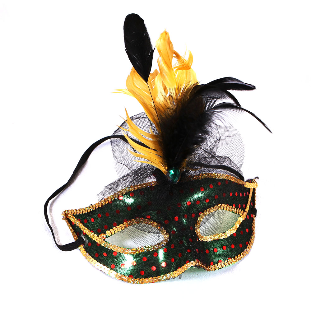 Halloween Feather Mask Promotion-Shop for Promotional Halloween ...