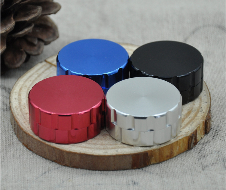Free shipping metal grinder hand smoke detector All 50 mm diameter aluminium 2 layer gri ...