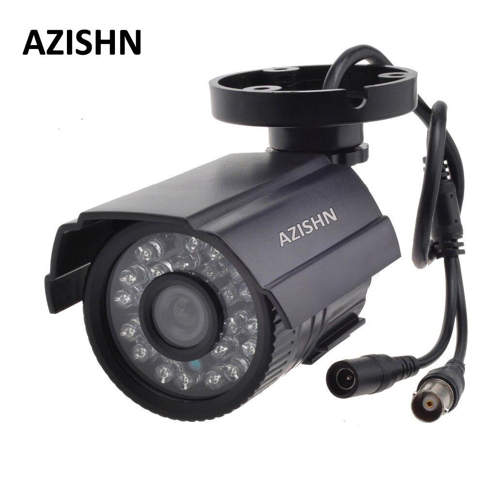 AZISHN CCTV Cámara 800TVL/1000TV Filtro de corte IR 24 horas día/visión nocturna impermeable al aire libre IR bala cámara de vigilancia