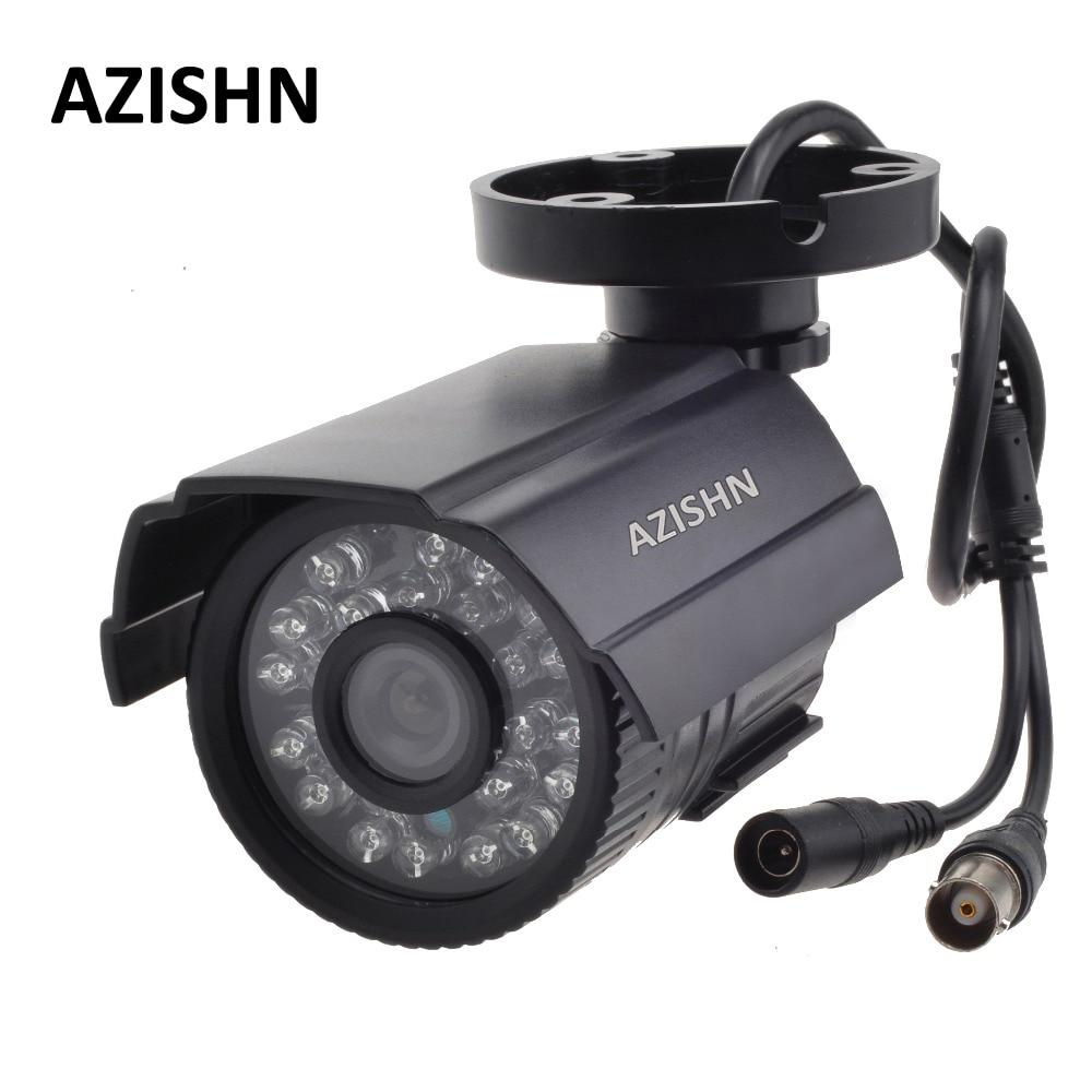 AZISHN CCTV Kamera 800TVL/1000TV IR Cut Filter 24 Stunde Tag/Nacht Vision Video Im Freien Wasserdichte IR Gewehrkugel überwachung Kamera