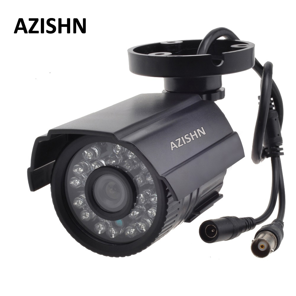 AZISHN Cctv 800TVL/1000TV Filtro IR Cut Giorno di 24 Ore/Night Vision Video Esterna Impermeabile Della Pallottola IR Telecamera di sorveglianza