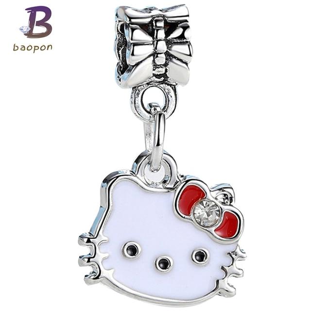 c9a1989e0 BAOPON 5Pcs/Lot Cartoon Style Crystal Pandora Dangles&Beads Fit DIY Child  Original Charms Bracelet&Necklace Jewelry