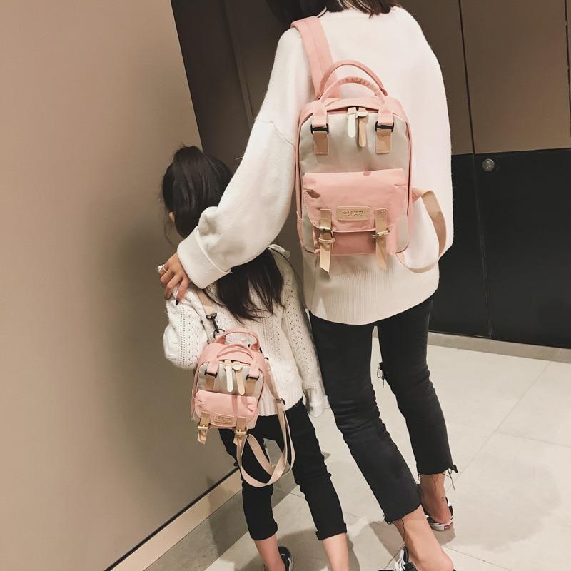 Fashion Mom Daughter Backpack Small Girl's Shoulder Bag Children School Bag Cute Kid's Rucksack Travel Bag Pack
